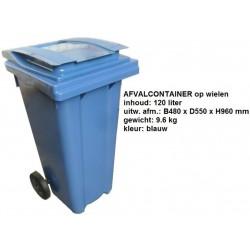 Kliko 120 liter blauw