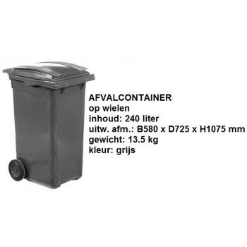 Kliko 240 liter grijs