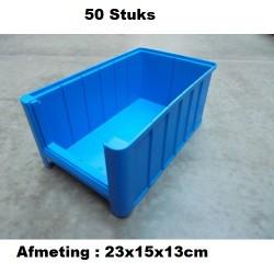 50 Magazijnbak 23x15x13 Blauw loods22.nl