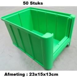 50 Magazijnbak 23x15x13 Groen loods22.nl