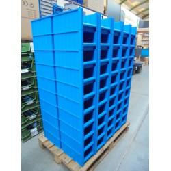 100 nieuwe blauwe Magazijnbakken
