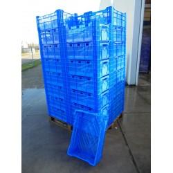 40 Nieuwe Kratten 60x40x24 blauw