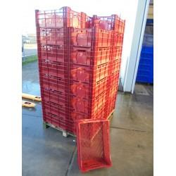 40 Nieuwe Kratten 60x40x24 rood