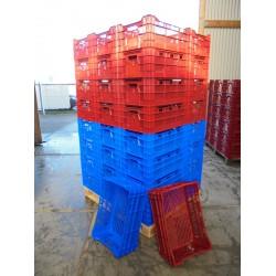 40 Nieuwe Kratten 60x40x24 / 2 kleuren