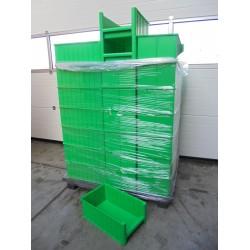 50 Magazijnbakken 50x30x20 Groen loods22.nl
