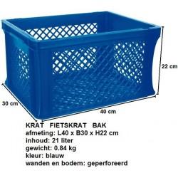 Fietskrat blauw