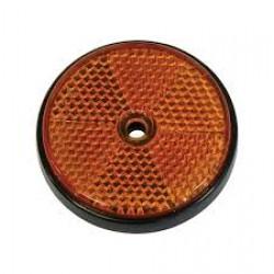 Reflector rond 6cm oranje
