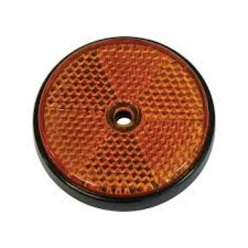 Reflector rond 8,5cm oranje