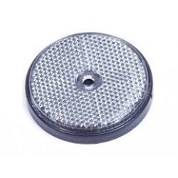 Reflector rond 6cm wit