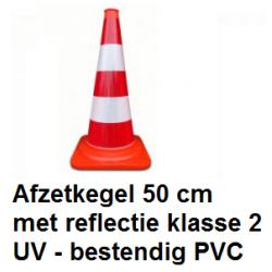 Afzetkegel 50cm PVC reflectie