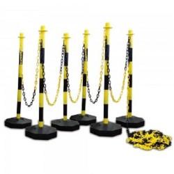 Kettingpalenset geel / zwart