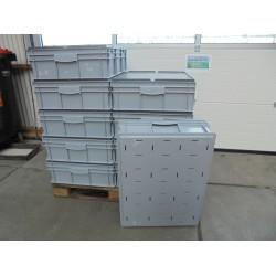 10 Gebruikte Bakken Met Deksel 80x60x23 grijs
