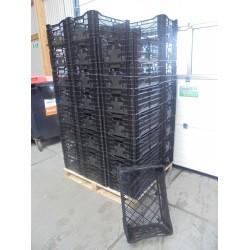 40 nieuwe zwarte Kratten 24 cm
