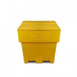 Zoutkist 200 liter geel