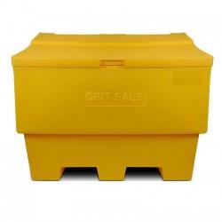 Zoutkist 400 liter geel