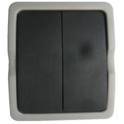 Lichtschakelaar 2 x enkel