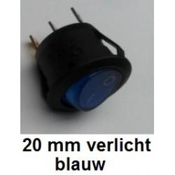 SCHAKELAAR 20 mm Blauw
