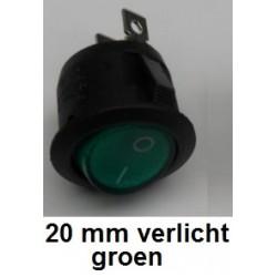 SCHAKELAAR 20 mm Groen