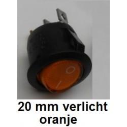 SCHAKELAAR 20 mm Oranje