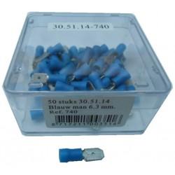 Kabel man 6,3 blauw