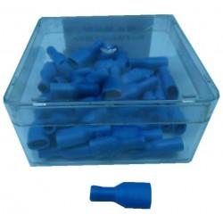 Kabel vrouw 6,3 blauw iso