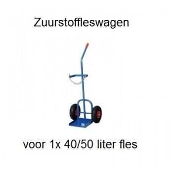Zuurstofflessenwagen voor 1 x 40 / 50 liter fles