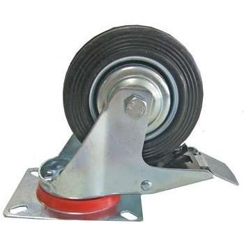 Zwenkwiel met rem 100 mm