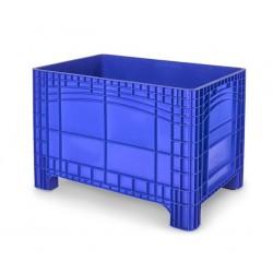 Palletbox blauw 1200x800x800