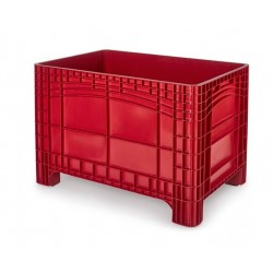 Palletbox rood 1200x800x800