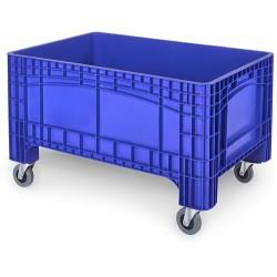 Verrijdbare Palletbox blauw 1200x800x730