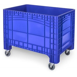 Verrijdbare Palletbox blauw 1200x800x950