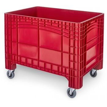 Verrijdbare Palletbox rood 1200x800x950